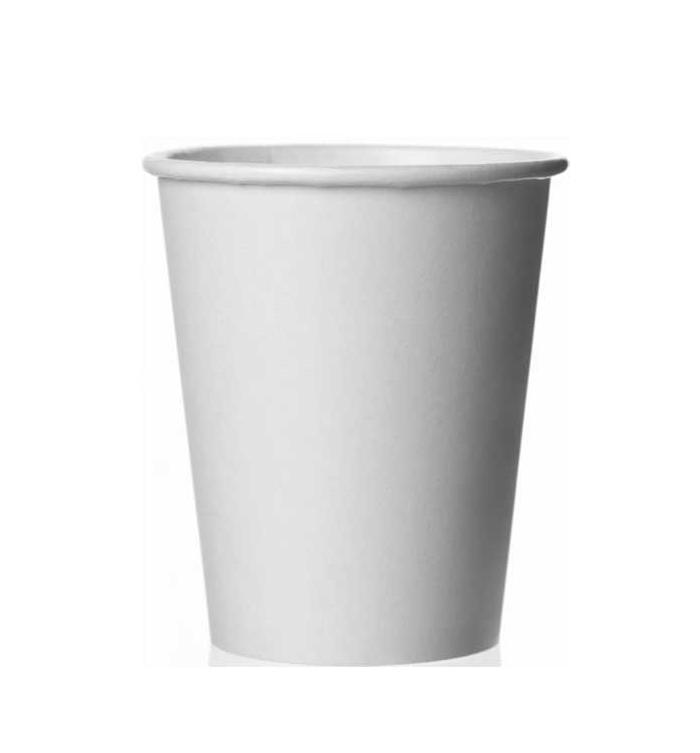 Стакан бумажный 250мл, D80мм, 1-сл, без принта, белый, 75шт/уп