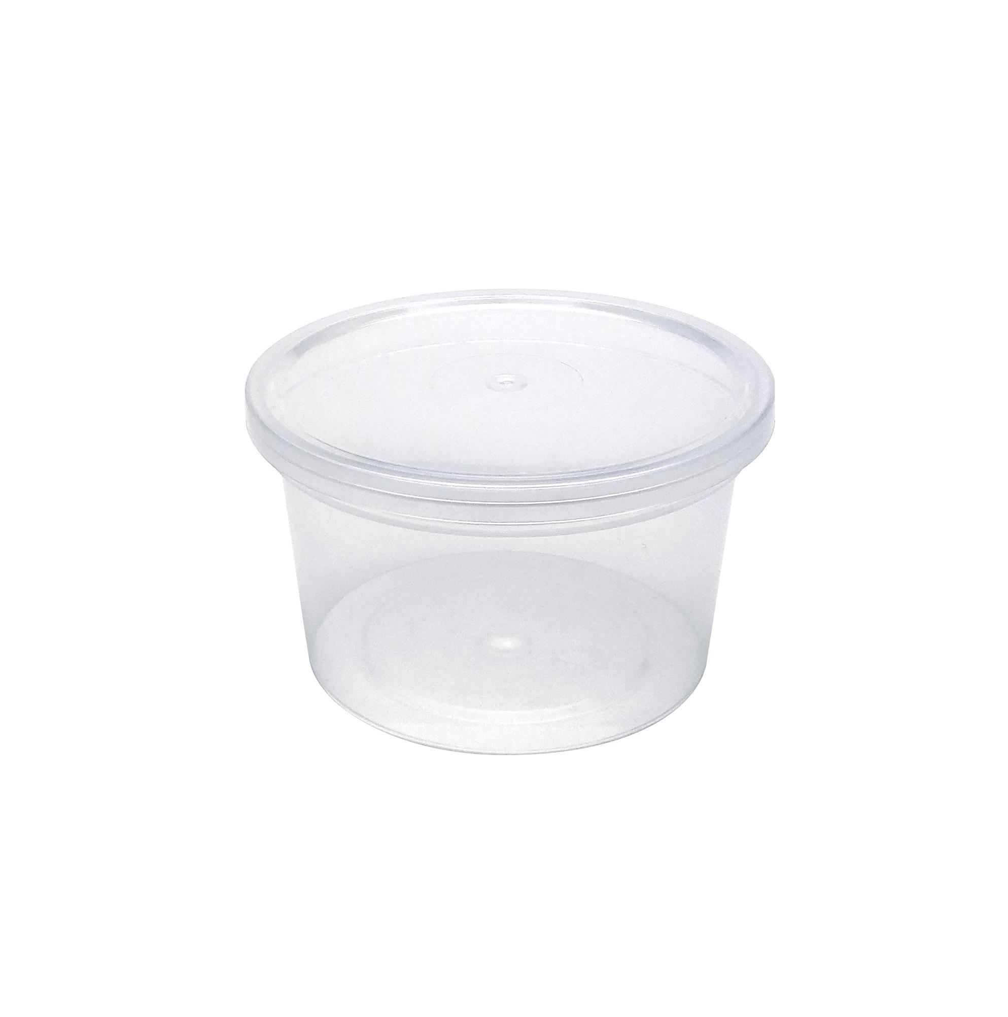 Контейнер пластиковый Перинт 250мл, D96мм, круглый, с крышкой, 50шт/уп