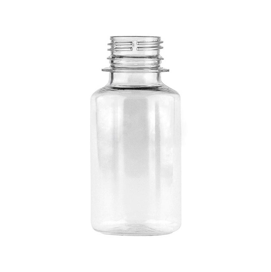 Бутылка ПЭТ 0,1л, D28мм (с узким горлом), без пробки, прозрачная, 200шт/уп