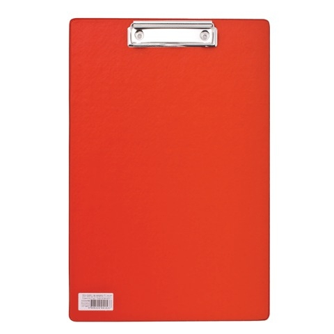 """Папка-планшет BRAUBERG """"Comfort"""", 23х35см, А4, картон+ПВХ, с верхним прижимом, красная"""