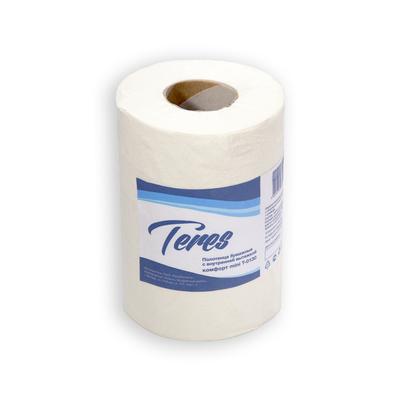 Полотенца бумажные Терес Комфорт Mini рулонные, центр. вытяжкой, 120м, 1-сл, белые, 12рул/уп, Т-0130