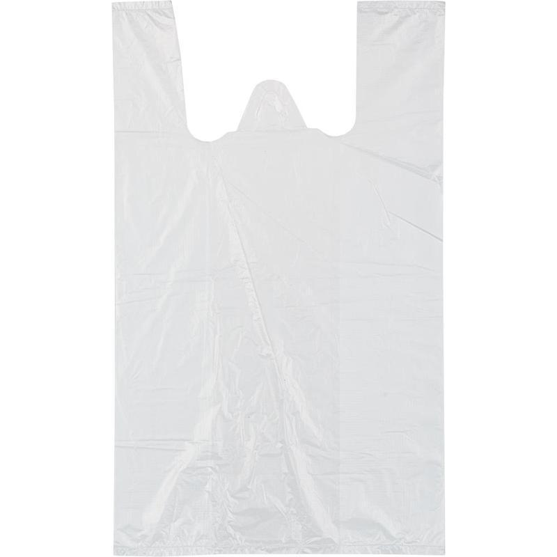Пакет-майка 28+14х50см, ПНД, 8мкм, белый, 100шт/уп