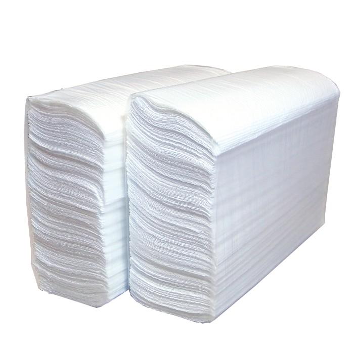 Полотенца бумажные Lime листовые, Z-слож, 2-сл, белые, 180шт/пач, 230180