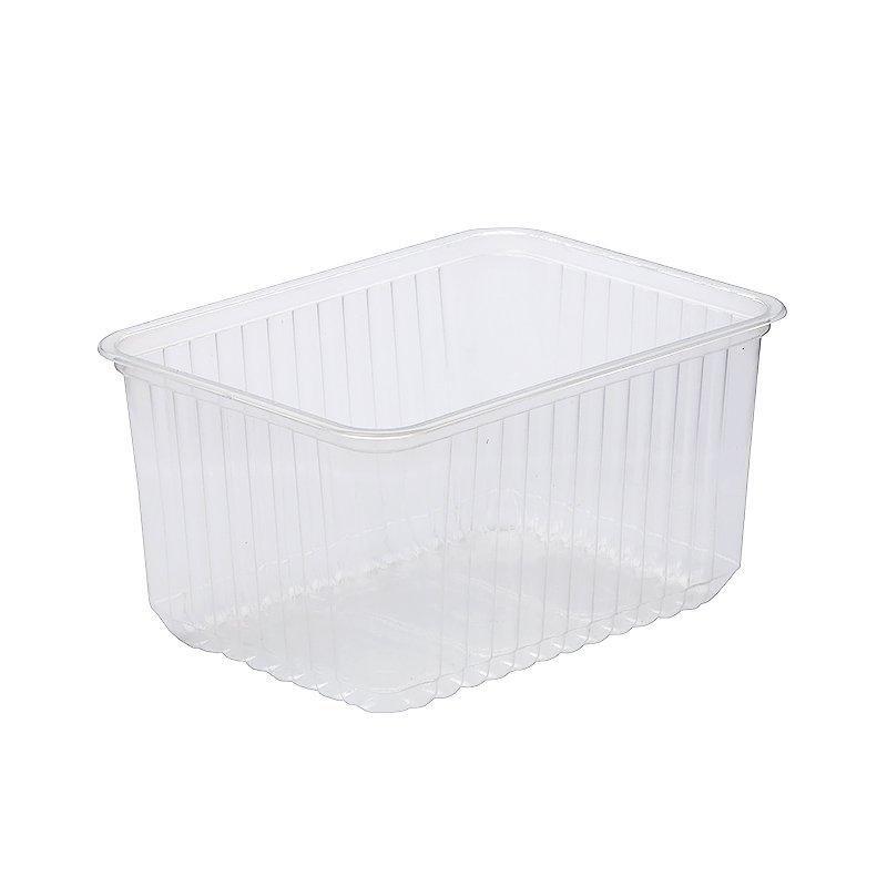 Контейнер пластиковый 1500мл, 179х132х89мм, без крышки, прозрачный, 500шт/кор (СТ)