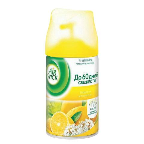 """Освежитель воздуха Air Wick Freshmatic """"Лимон и женьшень"""", 250мл, сменный баллон"""