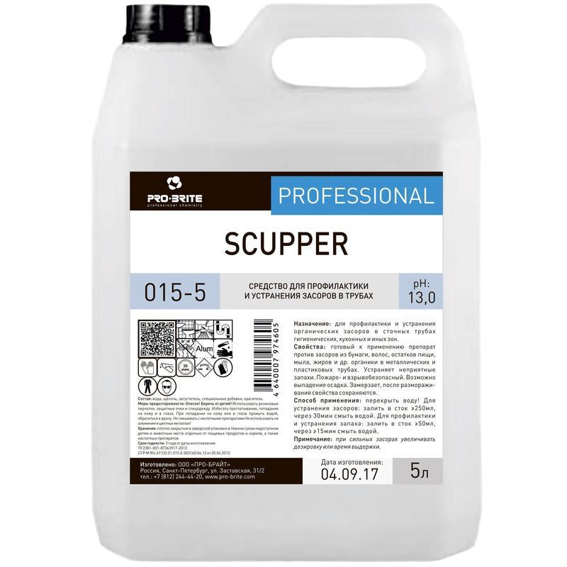 Средство чистящее для труб Pro-Brite Scupper, 5л, гель