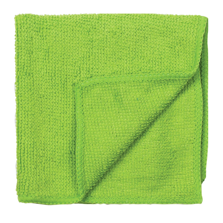 Салфетка 30х30см, микрофибра, 220г/м2, зеленая