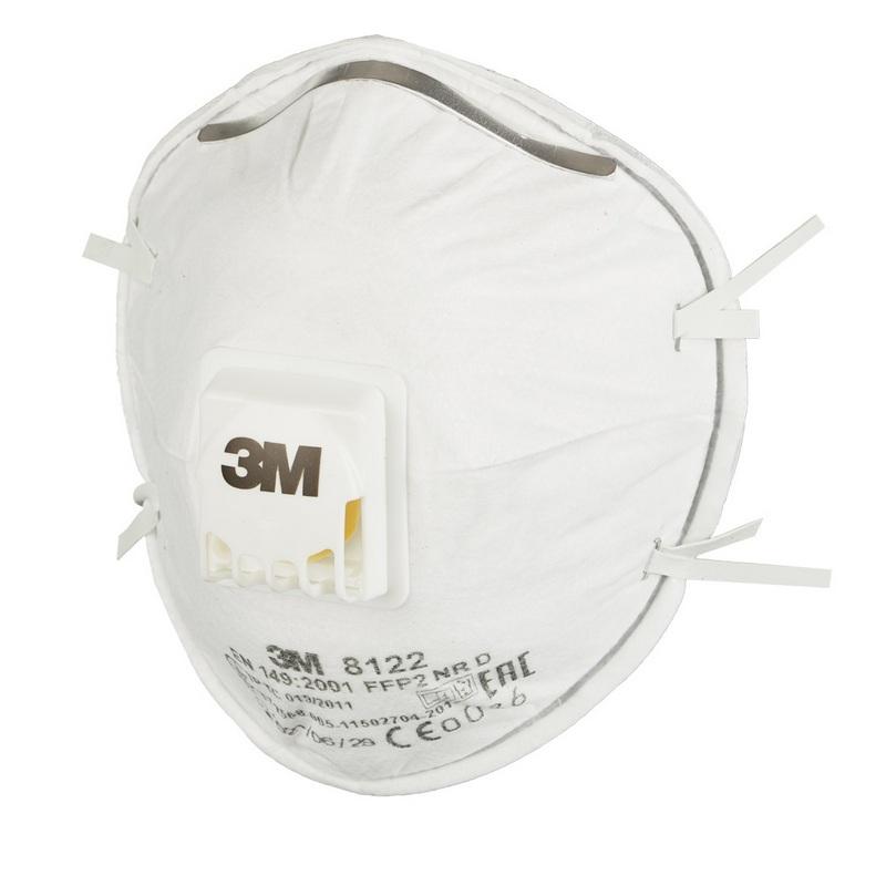Респиратор противоаэрозольный 3M, FFP2 до 12 ПДК, чашеобразный, с клапаном выдоха, 8122