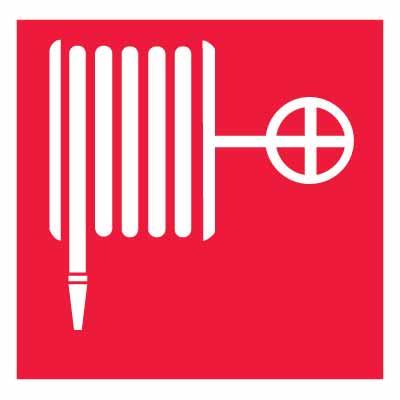 """Знак пожарной безопасности """"Пожарный кран"""" F02, 10х10см, с клеевым слоем"""