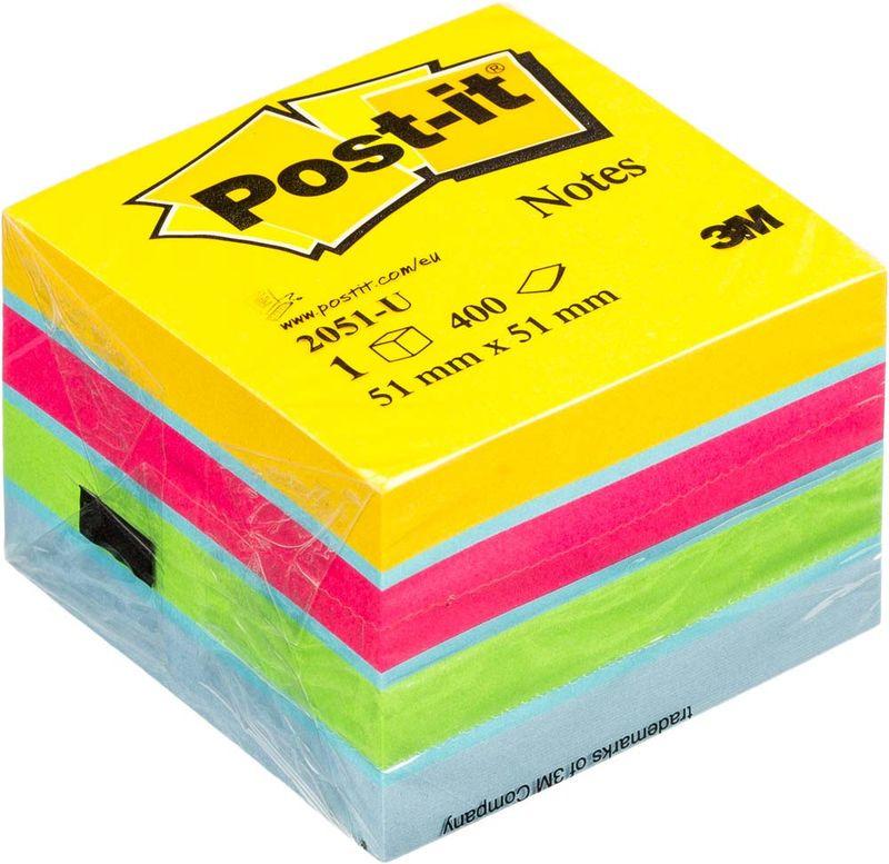 Блок самоклеящийся (стикеры) Post-it Original 51х51мм, 5 цветов неон, 400л/уп