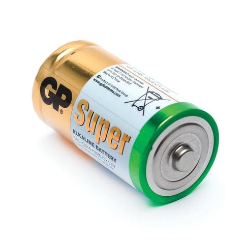 "Батарейки GP ""Super"" С (LR14, 14А), алкалиновые, 2шт/уп"