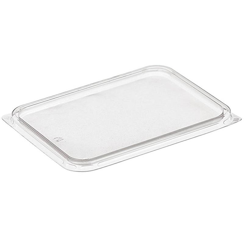 Крышка пластиковая к контейнеру 186х132мм, прозрачная, 500шт/кор (ДП)