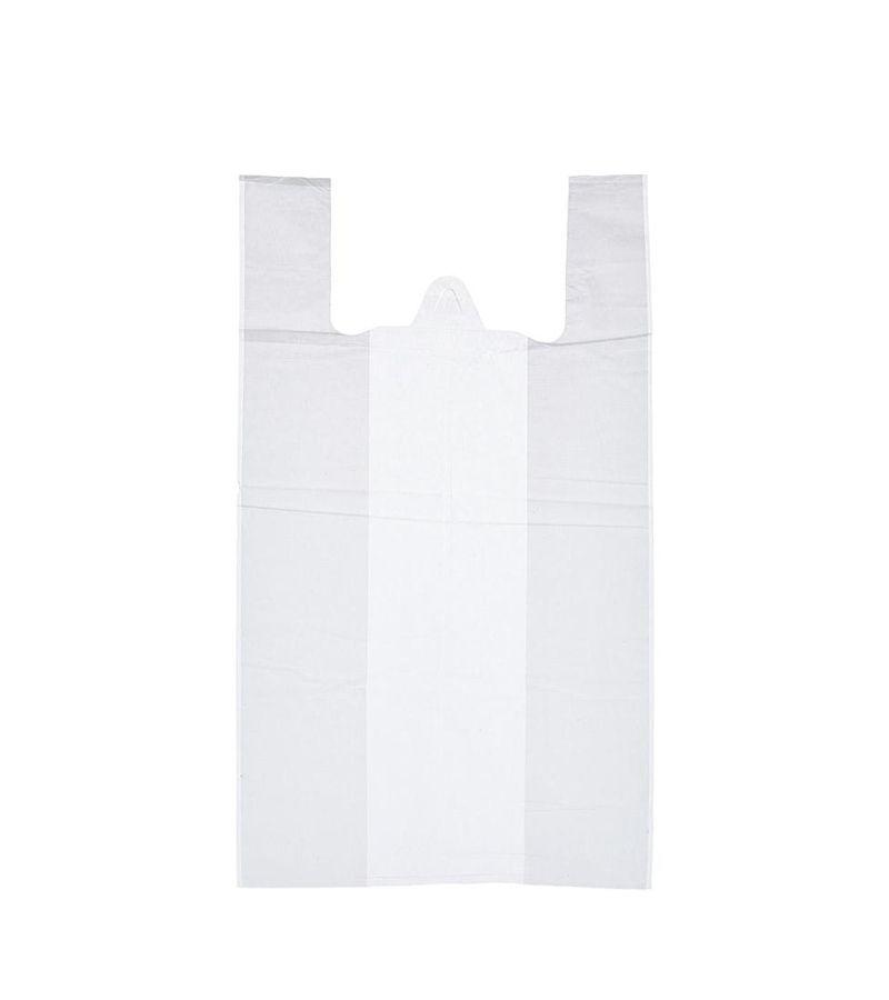Пакет-майка 28+15х50см, ПНД, 15мкм, белый, 100шт/уп
