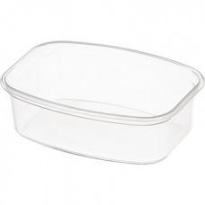 Контейнер пластиковый 350мл, 139х102х39мм, без крышки, прозрачный, 500шт/кор (СТ)