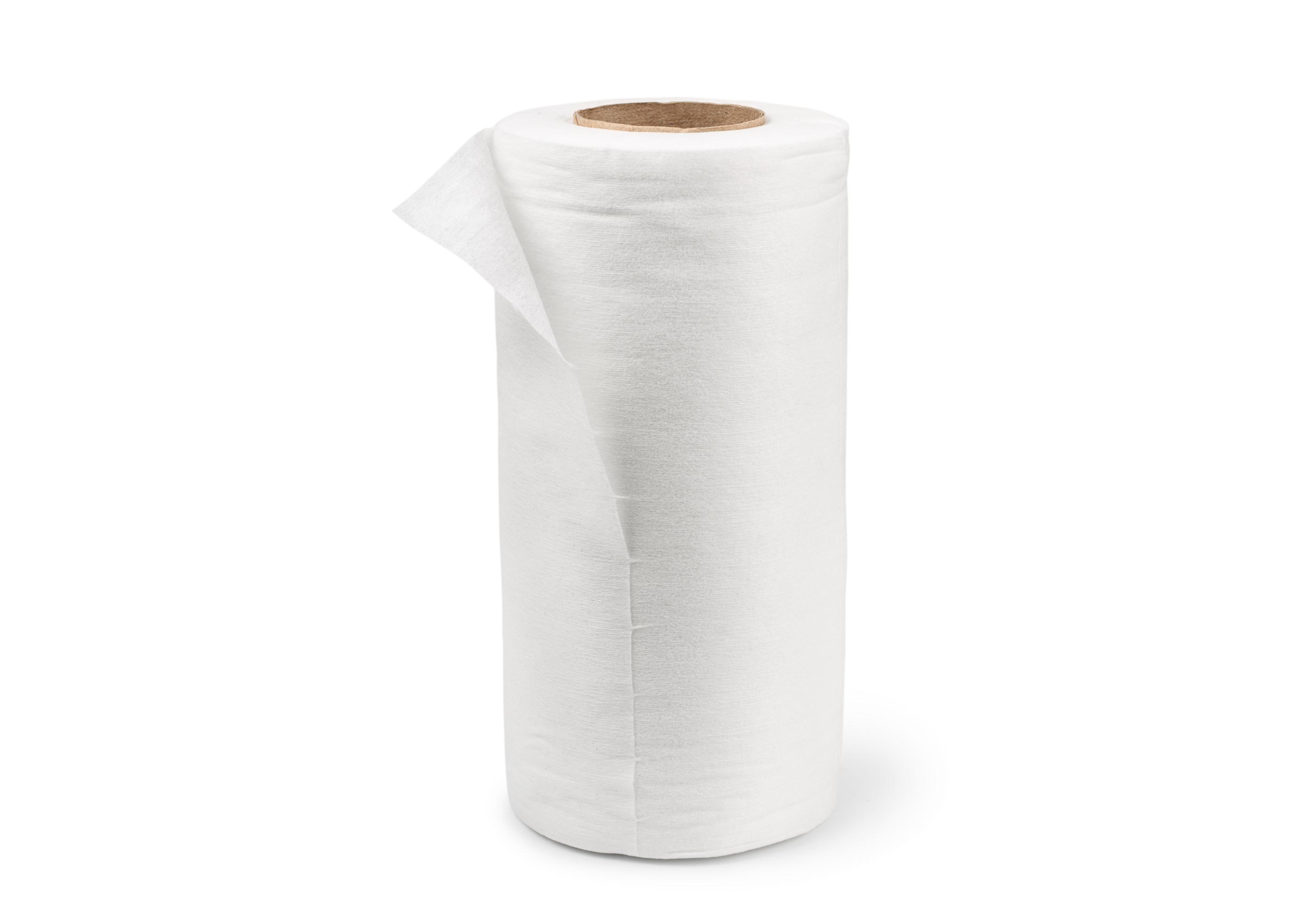 Полотенце Premium 35х70см в рулоне, спанлейс (вискоза+полиэфир), 50г/м2, белое, 100шт/рул