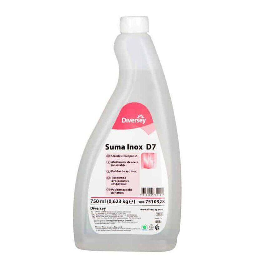 Средство для очистки и полировки нерж. стали Diversey Suma Inox Classic D7, 750мл, сменный флакон