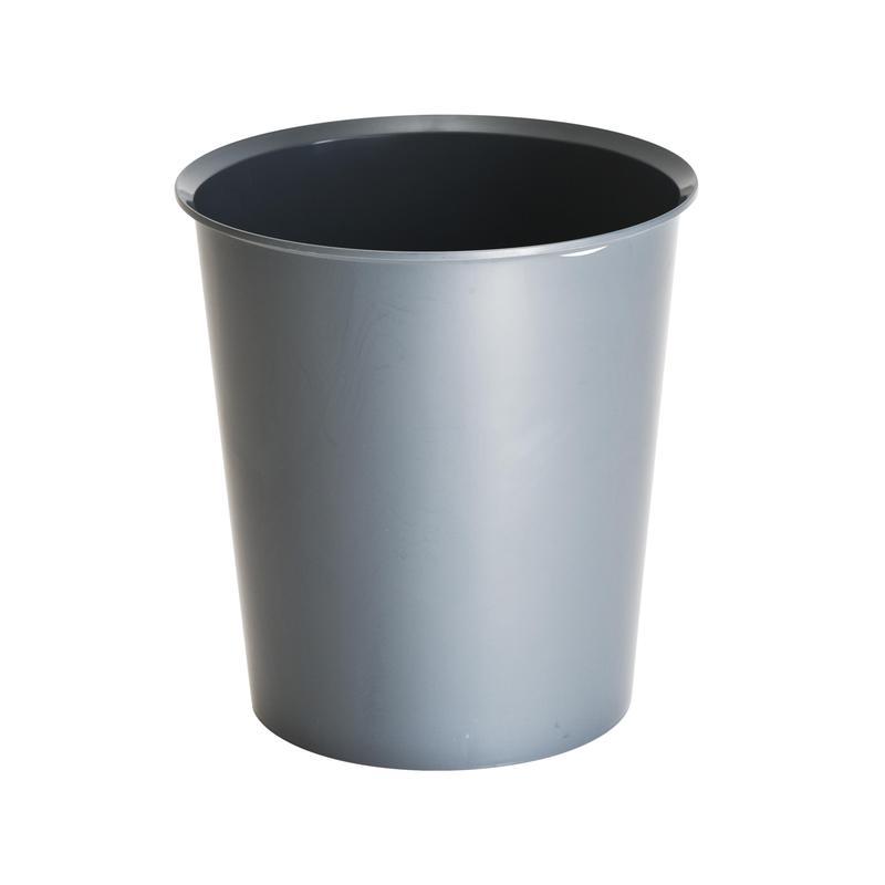 Корзина пластиковая для мусора Стамм, 14л, серая
