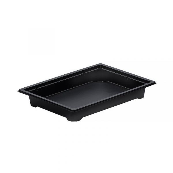 Контейнер для суши С-19, 182х127х25мм, ПС, без крышки, черный, 420шт/кор