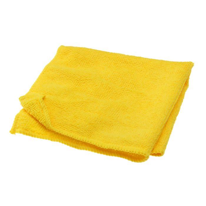 Салфетка 29х29см, микрофибра, желтая