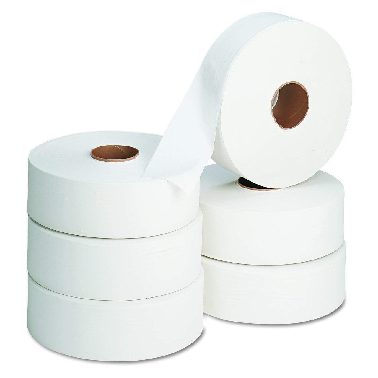 Бумага туалетная Focus Eco Jumbo в рулоне, 525м/рул, 1-сл, белая, 6рул/уп, 5050777