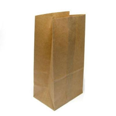 Пакет бумажный 12х8х24см, крафт, без ручек, 100шт/уп