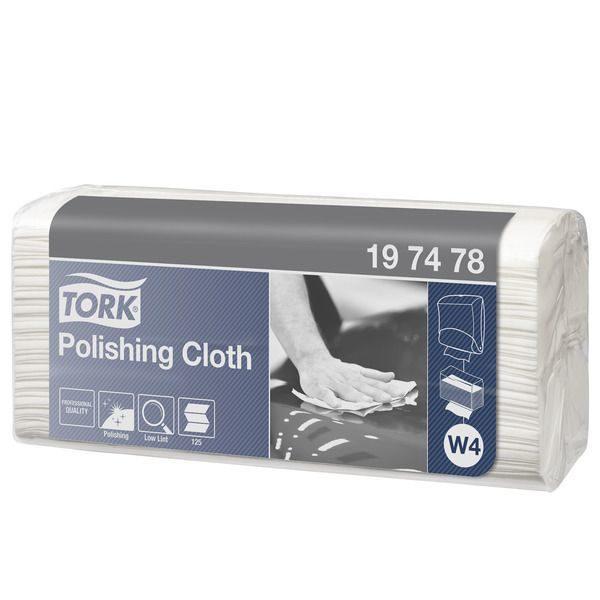 Салфетки нетканые Tork Premium W4 в пачке, 42,8х35,5см, 1-сл, белые, 125шт/уп, 5уп/кор, 197478