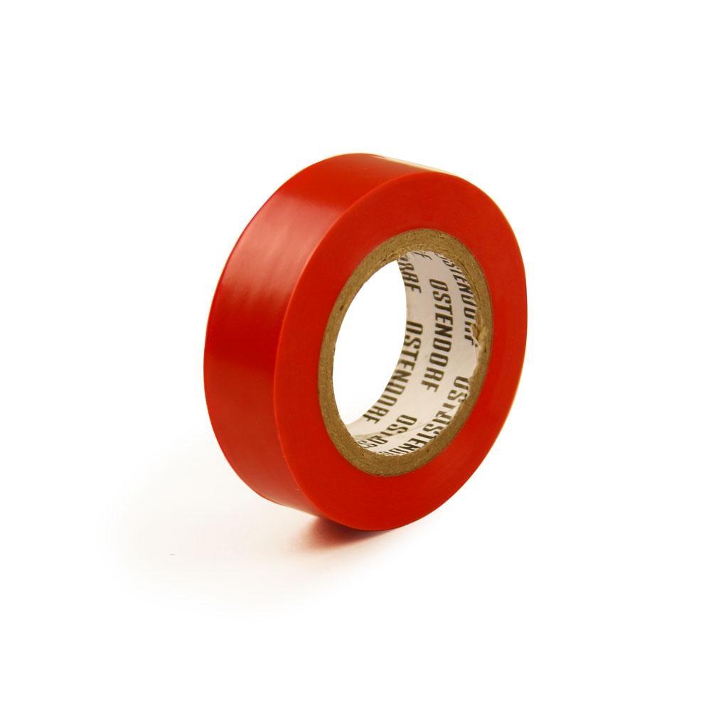 Изолента ПВХ 19мм, длина 20м, красная