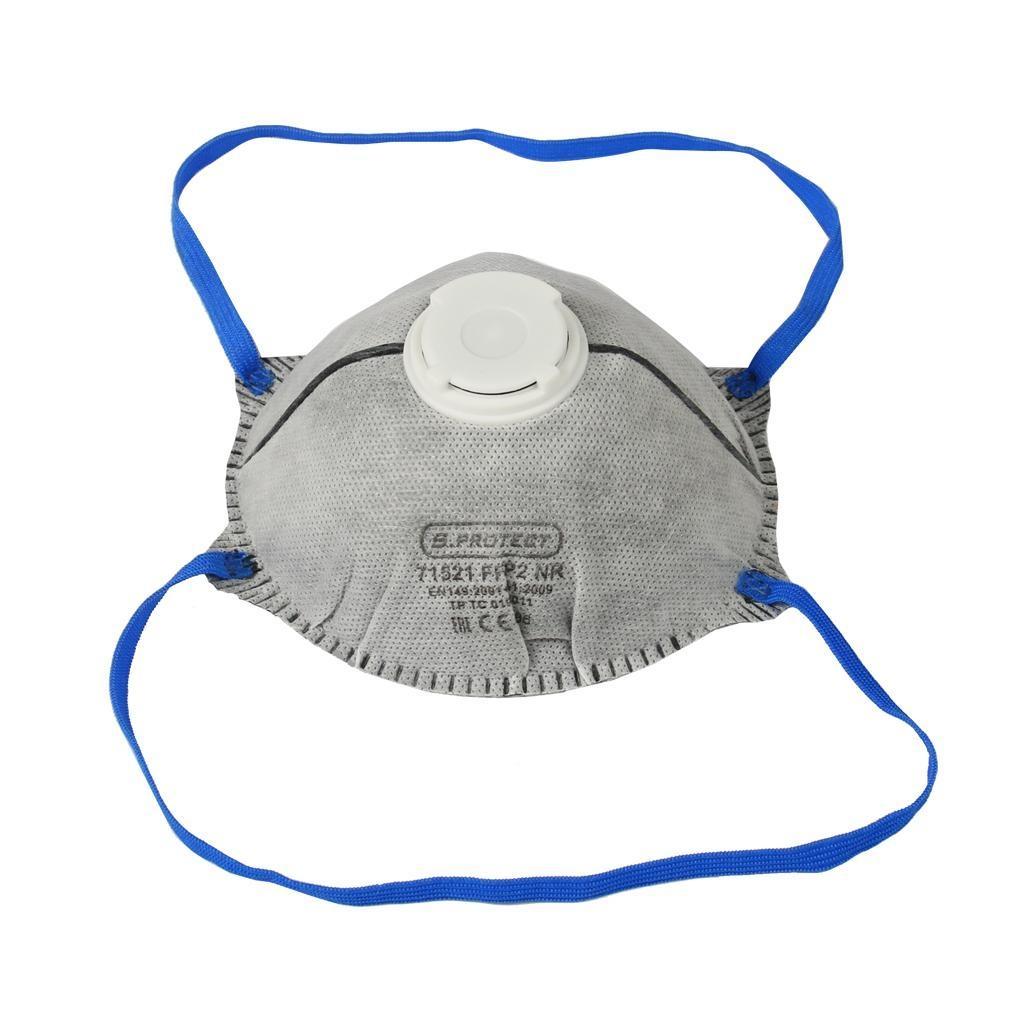 Респиратор противоаэрозольный S.PROTECT, FFP2 до 12 ПДК, угольный, чашеобразный, с клапаном выдоха