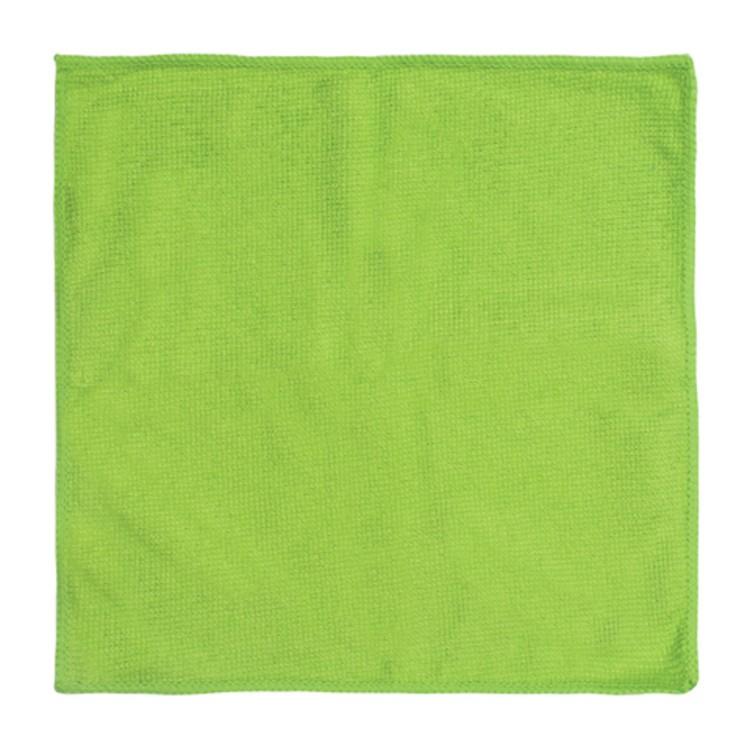Салфетка 29х29см, микрофибра, 220г/м2, зеленая, без упаковки
