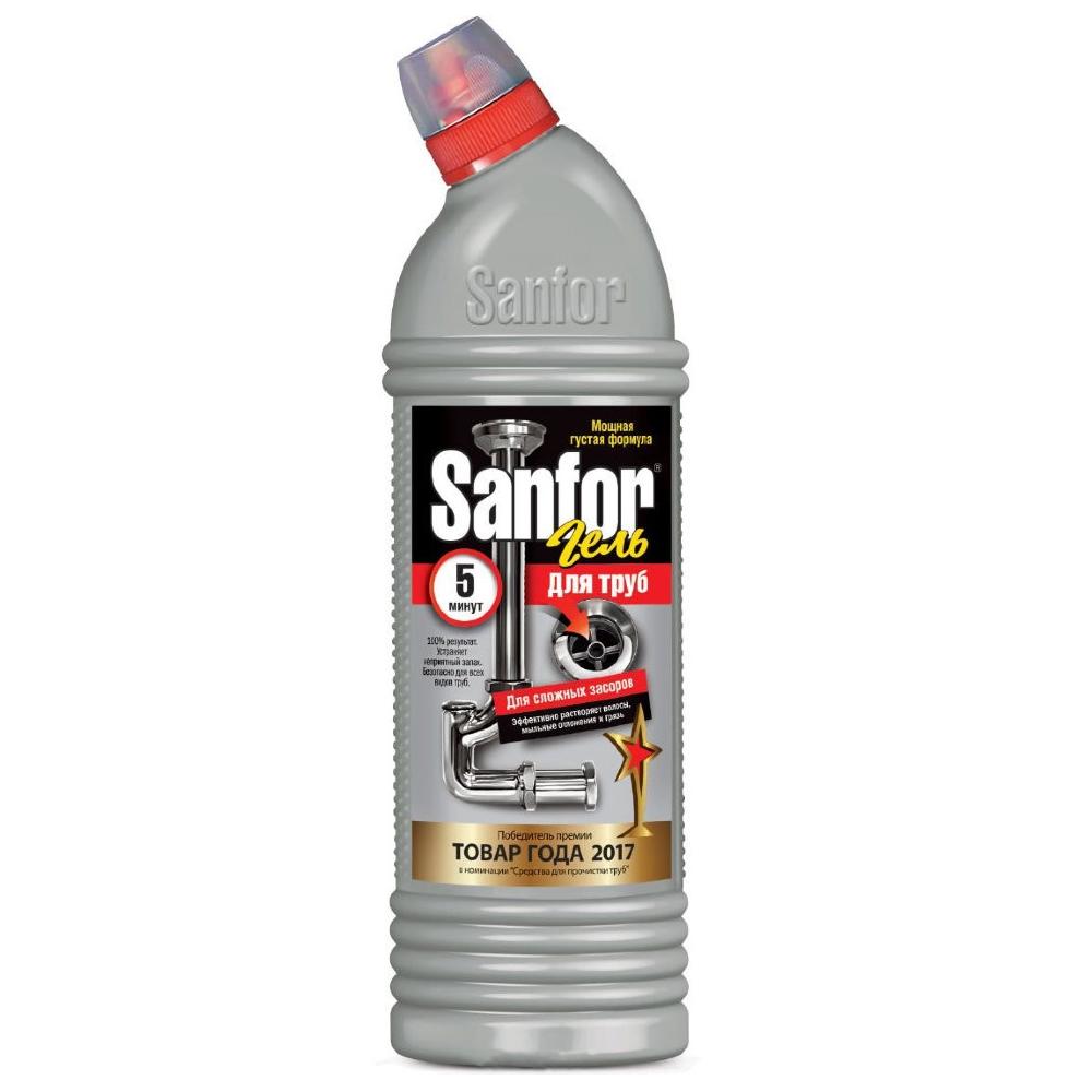 Средство чистящее для труб Sanfor гель, 1л