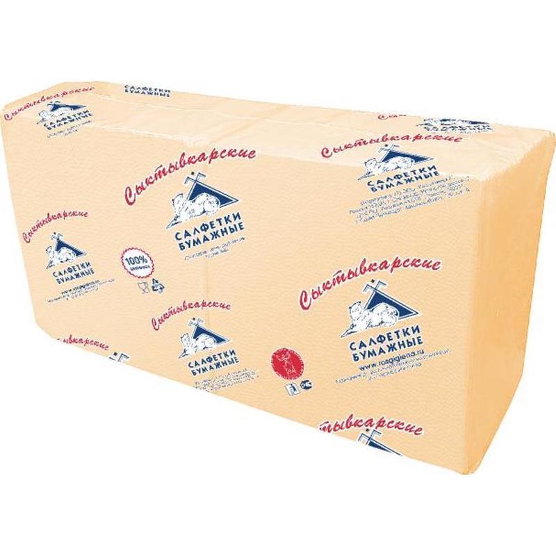 Салфетки бумажные Сыктывкарские Profi Pack 33х33см, 1-сл, шампань, 250шт/уп