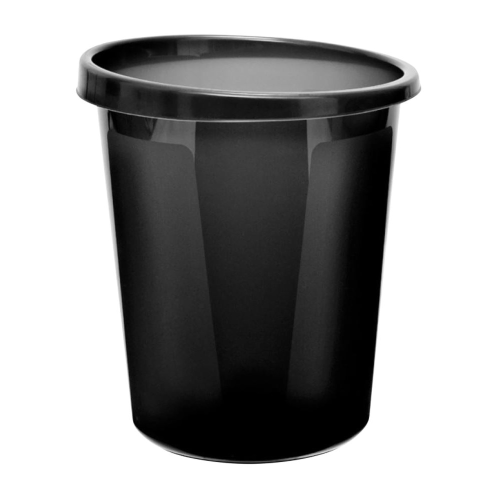 Корзина пластиковая для мусора Стамм, 9л, цельная, черная